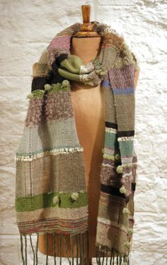 SAORI Handwoven Scarf by Yukako  Multi colors by Looming on Etsy,