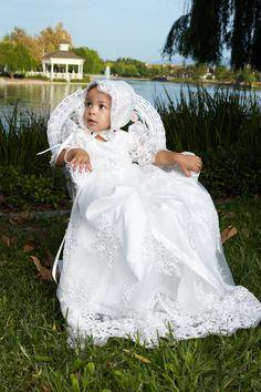 Beaded Alencon Lace Dress