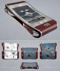 Bend Phone, Futuristic, Concept, cellphone, Andy Kurovets, future, phone, gadget, device, tech, technology.