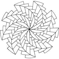 pinwheels -- I'm so crazy about geometrics, it's a little embarassing.