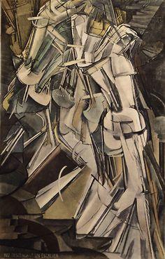 Nude Descending a Staircase - Marcel Duchamp - Surrealism - Artwork