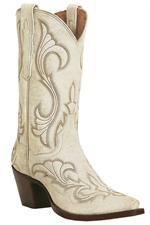 Dreamy & Romantic Dan Post White High Heel Cowgirl Boots #CowgirlWedding #WesternWedding #Country