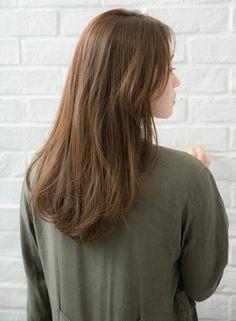 Hair Color Asian, Dark Blonde Hair Color, Brown Blonde Hair, Light Brown Hair, Brown Hair Colors, Clip Hairstyles, Permed Hairstyles, Brown Hair Korean, Hair Dyed Underneath