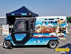 Eye-Catching Turnkey 2010 Club Car Carryall 11 Electric Powered Ice Cream Mini Truck for Sale in Georgia! Ice Car, Ice Truck, Food Truck For Sale, Trucks For Sale, Mini Trucks, Lifted Trucks, Ice Cream Music, Ice Cream Business, Step Van