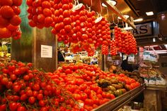 Barcelona cooking class market and tomatoes via @Transitions Abroad
