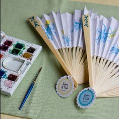 You have to buy the fans but they are a great party favor idea for showers or weddings.