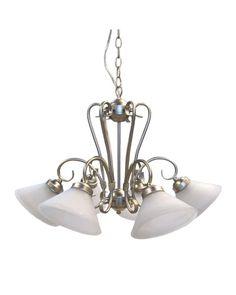 Epiphany Lighting 100306 BN Five Light Chandelier in Brushed Nickel Finish | $114.95 - foyer