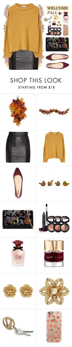 """""""Welcome Fall"""" by ealkhaldi ❤ liked on Polyvore featuring Improvements, Yves Saint Laurent, MANGO, Bottega Veneta, Laura Geller, Dolce&Gabbana, Smith & Cult, Miriam Haskell, Casetify and country"""