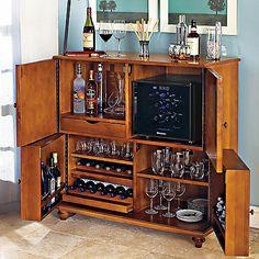 Segreto Folding Wine & Spirits Bar With 12 Bottle Silent Wine Refrigerator