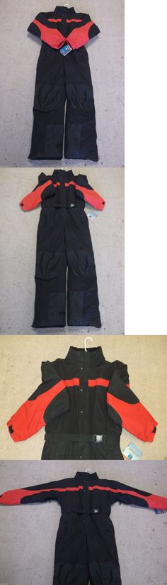 Snowsuits 62178: Snowboard Suit, Ski Suit, Mens Medium, New By Sportcaster Black Red, Verry Warm -> BUY IT NOW ONLY: $98 on eBay!