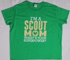 I'm a Scout Mom - BSA Boy / Cub Scouts Green Cotton T-Shirt - Adult 2XL XXL