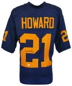 8d7b2b019 Desmond Howard Signed Custom Blue College Football Jersey JSA