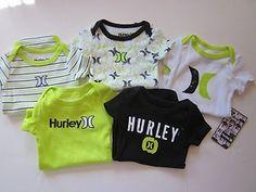 Hurley Infant baby Boy 5 piece onesies. $21.99