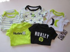 Hurley Infant baby Boy 5 piece onesies. $21.99