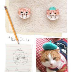 ねこ 猫 ボタン ハンドメイド オーダーメイド cat button handmade