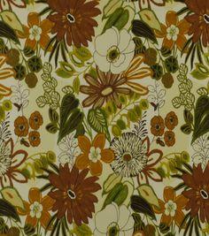 Home Decor Print Fabric-Robert Allen Lilith Marigold