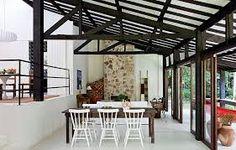 Image result for casa estrutura metalica e paredes de madeira
