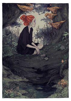 Thomke Meyer Illustration — deep in the woods