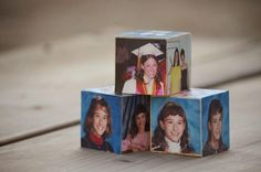 Snugglebug University: DIY Picture Blocks for the Graduate featuring Shutterfly graduation announcements and invitations