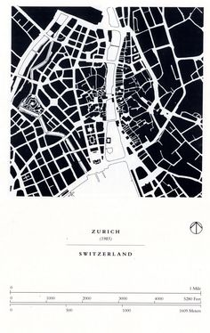 zurich figure ground plan, from Great Streets by Allan Jacobs