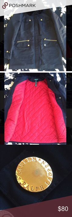 Ralph Lauren Blue & Black Faux Fur Collar Parka XL Beautiful parka jacket in excellent condition. Only sign of wear is a few scuffs on the exterior buttons (as shown in photo). Faux fur collar can be removed. Lauren Ralph Lauren Jackets & Coats Puffers
