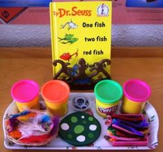 Create your own Dr. Seuss character with neon playdough, chenille stems, etc.!    (I use these items in play therapy to encourage kids to create a creature that represents strength, bravery, courage, persistence, confidence, etc! FUN!)