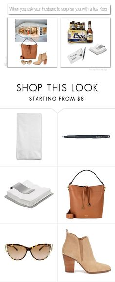 """When A Napkin Becomes A Keepsake..."" by idocoffee ❤ liked on Polyvore featuring Pentel, blomus, Michael Kors, White Label and Love Always"