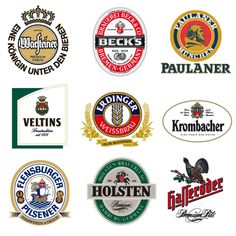 German Beer Logos | little collection of german beer vector logos.