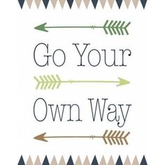Go Your Own Way Canvas Art - Tara Moss (22 x 28)