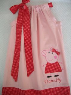 Peppa pig pillowcase dresses birthday party by amaritascloset