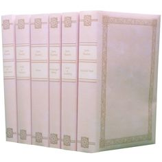 decorative set of Jane Austen books with custom covers PINK
