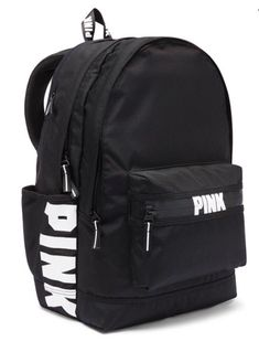 Brand New Victoria's Secret PINK Campus Backpack Black Brandneu Victoria's Secret PINK Campus Rucksack Schwarz Mochila Victoria Secret, Victoria Secret Pink, Victoria Secret Backpack, Cute Backpacks For School, Cute School Bags, Stylish Backpacks, Pink Backpacks, Book Bags For School, Mochila Adidas
