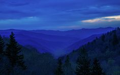 Blue hour still casts it's light on the Smoky Mountains from Oconaluftee overlook as I waited for sunrise. Canvas Prints, Framed Prints, Blue Hour, Wood Print, Beach Towel, Tennessee, Sunrise, Digital Art, It Cast
