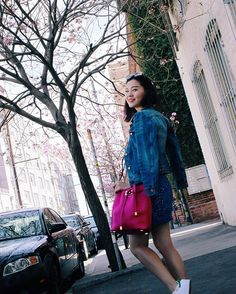 Michelle (@runwayonthego) Denim day #ootd #lotd #wiw #fashionblogger