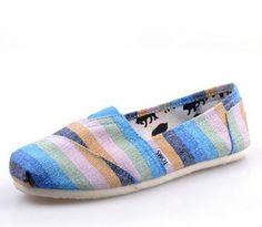 Blue Zebra Toms Canvas Shoes