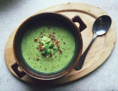 Subtly sweet and savory apple avocado soup is perfect for healthy, nourishing, gently detoxifying fall meal. By Lauren Sacerdote
