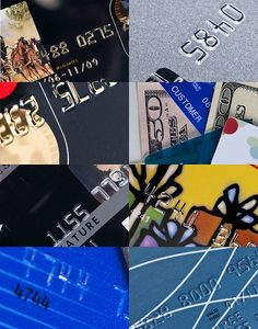 Close up views of credit, debit, and gift cards     Making big profits by buying and selling gift cards.