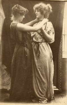 These models look like the Pettigrew sisters, Lily and Etty (they also posed for some well-known painters, including Alama Tadema and Millais).