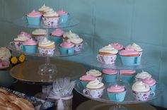 Teacup cupcake holders. Tea for Two second birthday party.