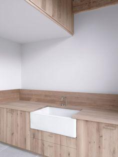 sink set in wood