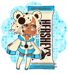 Hershey Kuma: Cookie N Cream by Vocaloid-Mirai