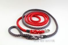 Custom double ombré rope dog leash by Green Trout Outfitters