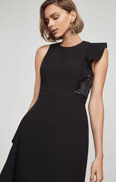 Marcelle Asymmetrical Ruffle Gown