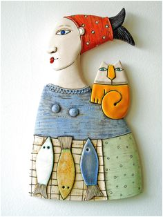 A woman selling fish ,Fine Art Ceramics, Ceramic Sculpture by MakedonskaCeramicA. A woman selling fish ,Fine Art Ceramics, Ceramic Sculpture by MakedonskaCeramicA… – Sculptures Céramiques, Sculpture Art, Ceramic Sculptures, Ceramic Clay, Ceramic Pottery, Pottery Sculpture, Paperclay, Clay Figures, Polymer Clay Crafts