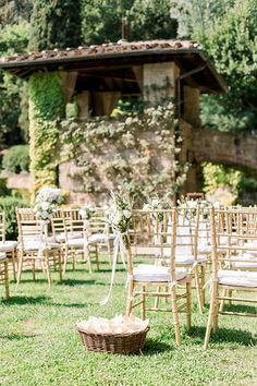outdoor wedding ceremony in tuscan garden Tuscan Garden, Tuscan Wedding, Outdoor Furniture Sets, Outdoor Decor, Wedding Story, Tuscany, Wedding Ceremony, Destination Wedding, Villa