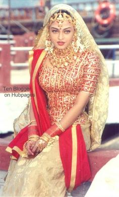 1000 images about costumes for film clips on pinterest for Aishwarya rai in her wedding dress