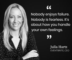Nobody enjoys failure. Nobody is fearless. It's about how you handle your own feelings. Learn Accounting, Free Education, Finance, Handle, Inspirational Quotes, Student, Feelings, Learning, Business