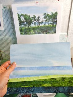 Here's another landscape quilting variation. This links to her blogspot, and she also does thread painting on this scene!!