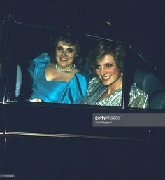 June 15, 1985: HRH Diana, Princess of Wales with her Lady in Waiting Anne Beckwith-Smith