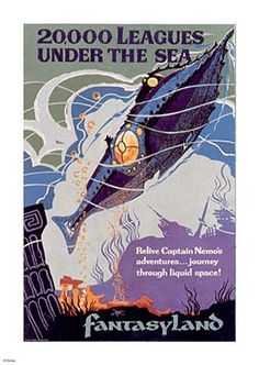Disneyland 20,000 Leagues Under The Sea Ride Promo Poster
